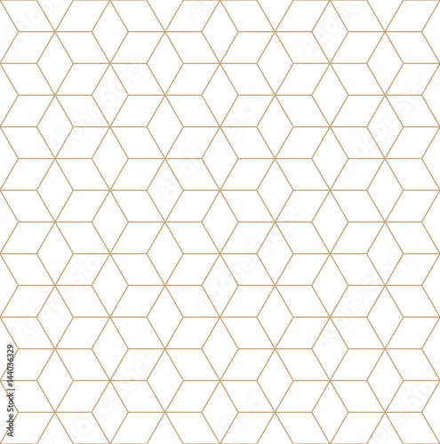 sacred geometry grid graphic deco hexagon pattern - 144036329
