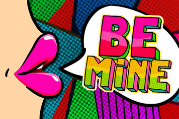 Be mine word bubble.