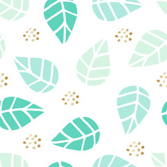 Seamless Leaves Pattern