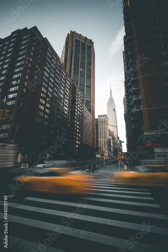 Daytime Scene in front of Empire State Building - New York