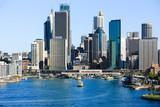 Sydney City Circular Quay, looking from Sydney Harbour Bridge