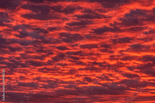 Foto op Canvas Baksteen Red sky and cloud in sun set time, Thailand.