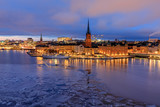 Evening reflection of Stockholm Riddarholmen