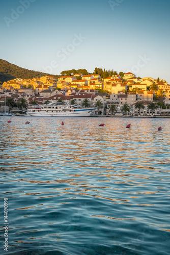 Poster Oceanië Sunset over Hvar, Croatia