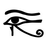Egyptian symbol of the eyes god Ra. Vector image. - 144094595