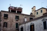 Venice architecture corner between buildings