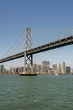 San Francisco-Oakland Bay Bridge with downtown San Francico in backround