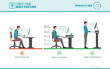 Correct sitting posture at desk
