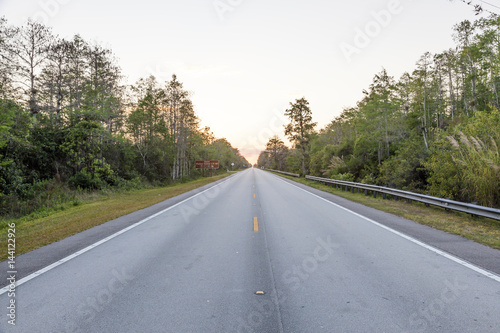 Poster Scenic highway in Florida
