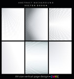Abstract geometric backgrounds set, brochure & flyer designs, cover templates. - 144124526