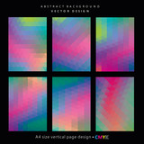 Abstract geometric backgrounds set, brochure & flyer designs, cover templates. - 144124561
