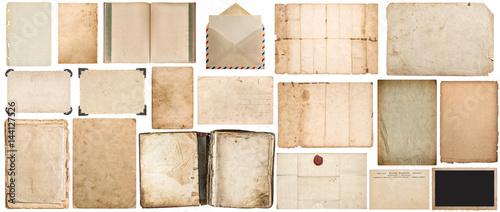 Naklejka Paper texture book envelope cardboard photo frame corner