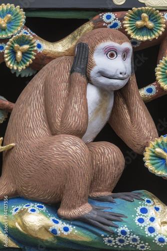 日光東照宮 三猿 Poster