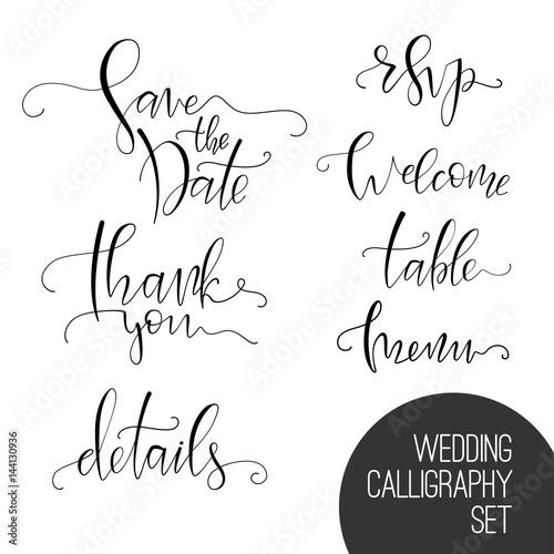 Wedding Calligraphy Set Buy Photos Ap Images Detailview