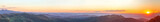 Mountain landscape and sunset