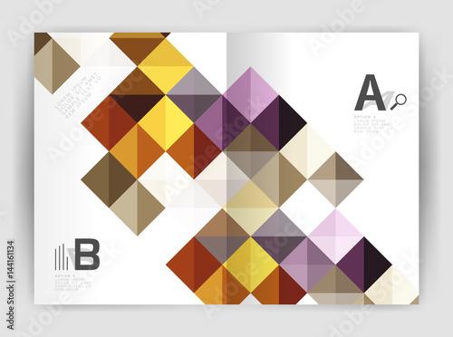 Foto op Canvas Bloemen vrouw Vector square leaflet, business a4 print template