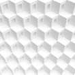 3d Rendering of White Cubes Background. Abstract Futuristic Shape Design