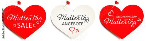 Herzförmige Zettel mit Pins - Set Muttertag Angebote