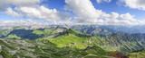 Gipfelpanorama am Nebelhorn im Oberallgäu