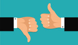 Thumb up and thumb down.Stock vector - 144231506