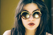Beautiful girl wearing funky sunglasses