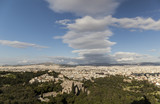 Wide view of Athens (Greece)