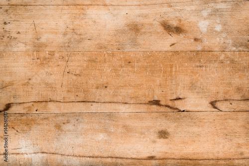 Alte, zerkratzte Holzplatte als Hintergrund, Holz Textur - 144260517