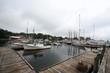 Boating dock in Camden, Maine.
