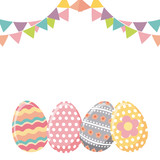 Fototapeta easter eggs icon over white background. colorful design. vector illustration