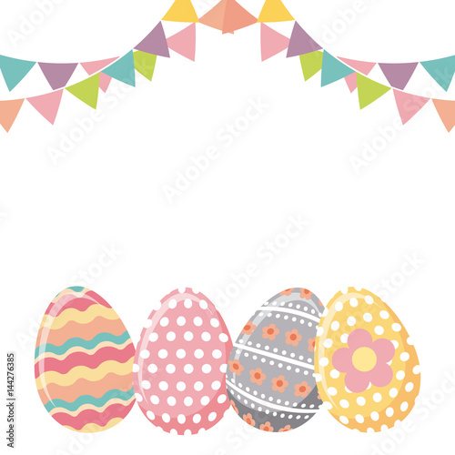 easter eggs icon over white background. colorful design. vector illustration