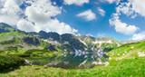Panorama of the mountain lake