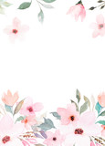 Watercolor floral template for wedding cards, invitations, Easter, birthday - 144285519