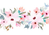 Watercolor floral template for wedding cards, invitations, Easter, birthday - 144285544