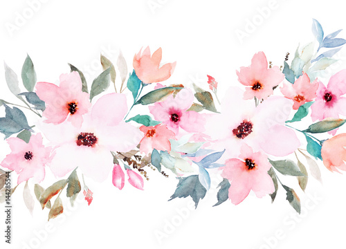 watercolor floral template for wedding cards invitations easter