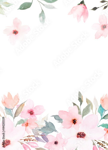 watercolor floral template for wedding cards invitations easter birthday