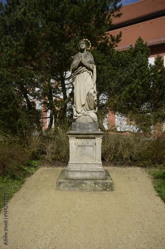 Poster Skulptur im Kloster St. Marienthal in der Oberlausitz