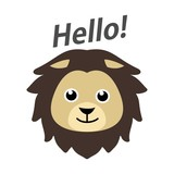 Cute lion illustrati...