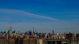 Skyline von New York City von der Brooklyn Bridge aus
