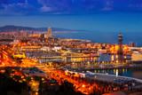 Barcelona in evening.  Spain