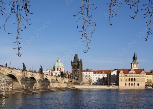 Poster View of Charles Bridge and Old Town Bridge Tower in Prague