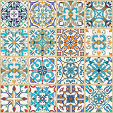 Vector seamless texture. Beautiful patchwork pattern for design and fashion with decorative elements - 144339936