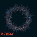 Big data circular visualization. Futuristic infographic. Information aesthetic design. Visual data complexity. Complex data threads graphic visualization. Social network representation. Abstract graph - 144347586