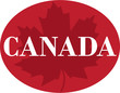 Canada  logo in maple leaf