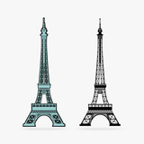 Vector Symbol Eiffel Tower