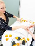 Preparing nails before manicure, cutting cuticles