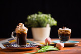 Coffee Viennese on Colorful Background