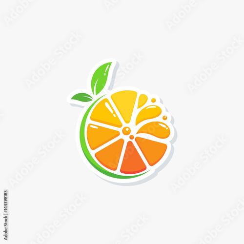 modern fresh orange logo vector illustration