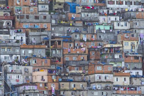 Poster Favela at Rio de Janeiro