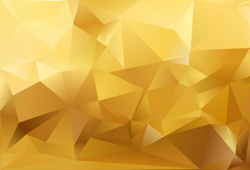 Abstract triangle background. Gold and white colour.