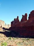 Park Avenue Vertical/Strange tall geological formations in Moab Utah